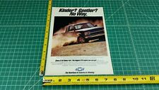 1992Chevrolet Chevy S-10 Tahoe 4x4 1-Page Color Ad