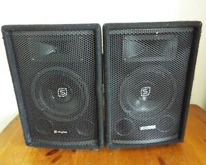 Pair of SKYTEC PA Speakers 8 ohm 150w (250w peak) Model No. SL-6 Compact Size