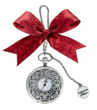 Ganz Christmas Holiday Cherished Time Clock Pocket Watch Ornament CT