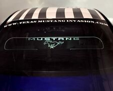 New Mustang Custom Lighting Accessory Glow Plate Rear Window Lighted Logo