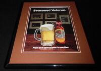 1977 Stroh's Beer Framed 11x14 ORIGINAL Vintage Advertisement