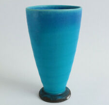 Mino ware Japan Pottery BLUE RIVERS Beer Cup/Tumbler Turquoise Matte finish