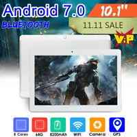 10.1'' 4G+64GB Android 7.0 Tablet PC 8 Core HD WIFI bluetooth 2 SIM+Bundle