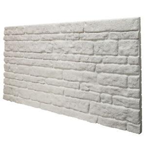 Pannello finta pietra In EPS resinato 100X50cm sp.2cm COLORADO WHITE
