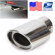 Universal Chrome Stainless Steel Auto Car Exhaust Pipe Tail Muffler Tip From USA