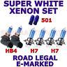 FITS TOYOTA COROLLA 2004-07 SET OF H7 H7 HB4 501  XENON SUPER WHITE LIGHT BULBS