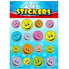 Trabajo Lote ~ 6 X 16 Smiley Happy Face pegatinas ~ Fiesta Bolsas profesores Marca ayuda
