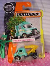 2017 Matchbox TREE LUGGER truck #31☆Aqua Cab; Yellow/gray☆CONSTRUCTION☆case M