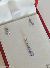 9 Carat White Gold Fine Diamond & Gemstone Jewellery Sets