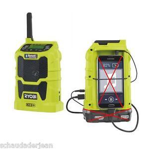 Ryobi R18R-0  Bluetooth-Radio   5133002455  Akku Radio ohne Akku/ Ladegerät!