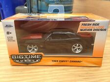 Jada '69 RS/SS Camaro Pro-Touring....Black Beauty....Jada Big Time Muscle...1/43
