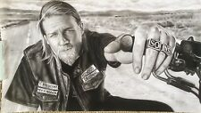 Sons of Anarchy Jax ART CHARCOAL DRAWING 10X18""