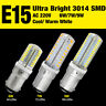 Lot B15 Base Bulb 3014 SMD LED Lights Lamp 220V Crystal Silicone Warm/Cool White