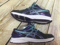 Asics Gel Contend Womens 8.5 Blue Purple Gray Running Shoe Sneakers 2 T475Q