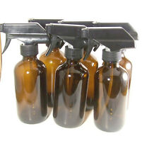 (6) 8 oz. amber glass spray top bottles essential oils doTERRA do it yourself