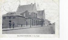 Postkaart Blankenberge Blankenberghe la Gare met strafportzegel