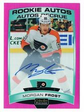 2019-20 O-Pee-Chee OPC Platinum Rookie Autograph Matte Pink Morgan Frost 52/99