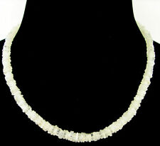 145 Ct Natural Rainbow Moonstone Heishi Disc Cube Beads Necklace String - B137
