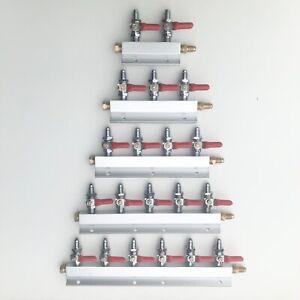 Kegland Gas Manifold Splitter 2 3 4 5 6 Way Output MFL Threaded Beer Kegerator