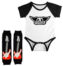 Aerosmith Infant Bodysuit Jersey Outfit Baby Leg Warmers Set Shower Gift