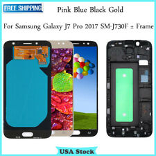 For Samsung Galaxy J7 Pro 2017 J730 SM-J730G LCD Touch Screen Digitizer ± Frame