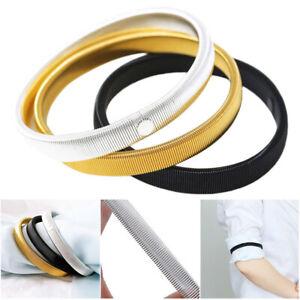 Shirt Sleeve Holders Arm Bands Elastic Metal Armband Men Ladies Fashion