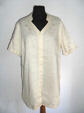 Camicia Chemises Tunica ELENA MIRO' Made in Italy in RAME ( LINO ) Tg. 37