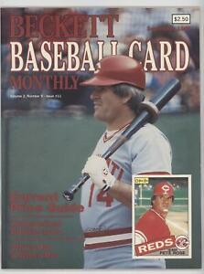 1984-Now Beckett Baseball Pete Rose September 1985 #11