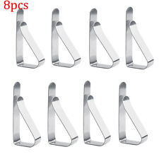8x Small Stainless Steel Tablecloth Table Cloth Clips Clamps Wedding Party SS