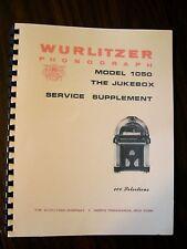 Wurlitzer Model 1050 Jukebox Supplement Manual
