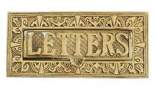 Brass Art Nouveau LETTERS Letter Box Cover – antique style post boxes door plate