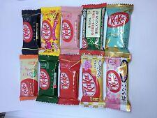 Nestle kit kat 10flavor form japan free shipping green tea Sakura & Kinako......