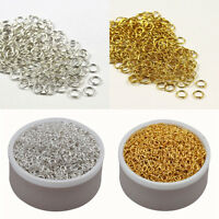 500PCS 5MM DIY Making Jewelry Findings Silver/Gold Plated Opening Jump Rings