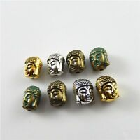 36pcs 4 Colors Alloy Jewelry Making Buddha Head Beads DIY Findings Crafts 52627
