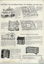 1933 PAPER AD Tootsietoy Doll House Trixytoy Mansion Furniture Empire Range Oven
