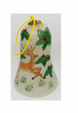 Ornament Hand Painted Glass Reindeer Bell Gaul Searson Limited San Francisco