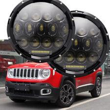 """2x 7"""" LED Headlight Lamp For Jeep Wrangler JK LJ TJ CJ FJ Patriot Liberty H6024"""