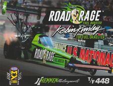 2017 Kebin Kinsley signed Road Rage Fuel Booster Top Fuel Nhra postcard