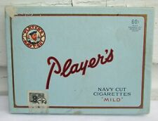 VINTAGE SCARCE CARDBOARD 60 CENT PLAYERS NAVY CUT 50 CIGARETTE TOBACCO NOT TIN