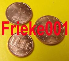 Italië - Italie - 1,2,en 5 cent 2007 unc.
