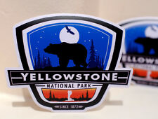 """#3457 YellowStone National Park Bear Eagle 4"""" Luggage Label Decal Sticker"""