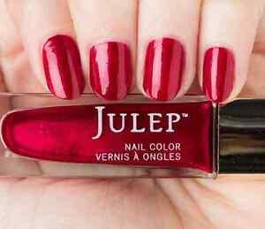 NEW! Julep nail polish IMAN Nail Vernis 0.27 Fl. Oz. Ruby birthstone shimmer