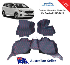 Kia Carnival 2015-2020 Full Surround Custom Made Floor Mats /Carpets For 3 Rows