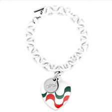 OPS OBJECT Bracciale donna Cup Edition OPSBR-2014 gomma bianco tricolore italy