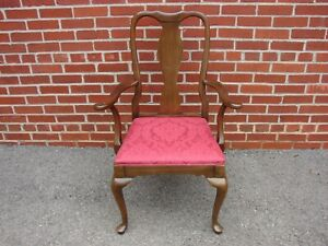 ETHAN ALLEN GEORGIAN COURT QUEEN ANNE CHERRY ARM CHAIR 11 6211 #2