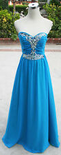 NWT MASQUERADE $160 BLUE / IRISH Prom Formal Gown 7