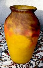 Grand Vase En Pâte De Verre Signé MULLER FRES LUNEVILLE parfait état H:25cm1,8kg