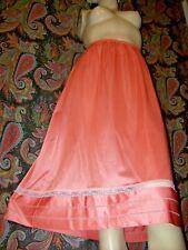 Vintage Lorraine Coral Silky Nylon Tricot A-line Half Slip L Tall