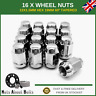 Wheel Nuts 16x M12x1.5 Bolts For Honda Jazz (2001-09) With Aftermarket Alloys