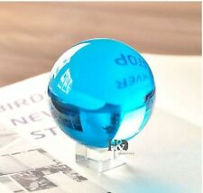 100mm HUGE RARE Natural Quartz Sky Blue Magic Crystal Healing Ball Sphere Stand